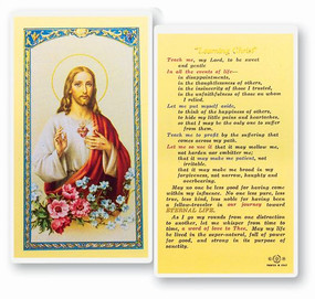 Learning Christ Laminated Holy Card