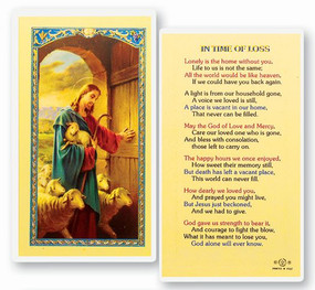 In the Time of Loss Laminated Holy Card