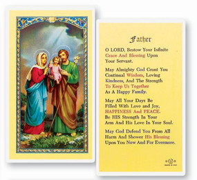 Prayer for a Father Laminated Holy Card