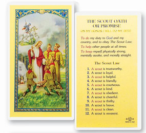 Boy Scout Oath or Promise Laminated Holy Card