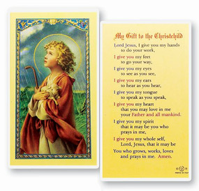 My Gift to the Christchild Laminated Holy Card