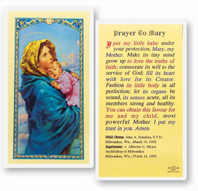 Mary Madonna of the Street Laminated Holy Card