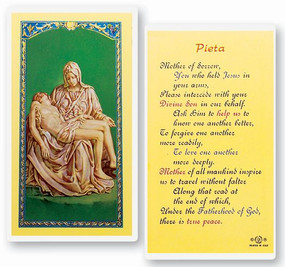 Pieta - Mother of Sorrow Laminated Holy Card