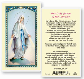 Our Lady Queen of the Universe Laminated Holy Card