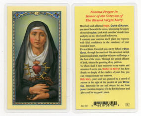 Seven Sorrows Laminated Holy Card