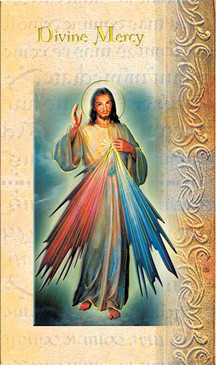 Divine Mercy Biography Card