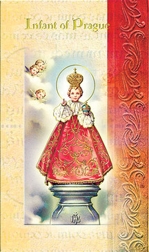 Infant of Prague Biography Card