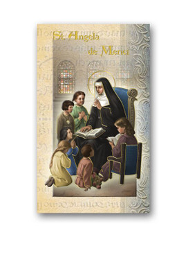 St. Angela Biography Card