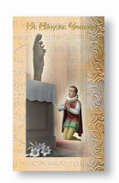 St. Aloysius Gonzaga Biography Card