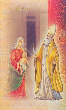 St. Blaise Biography Card