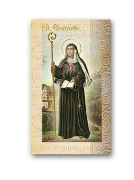 St. Gertrude Biography Card (F5-441)