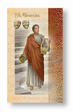 St. Genesius Biography Card
