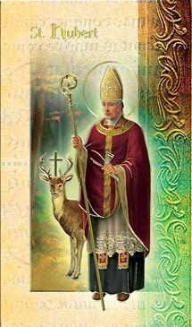 St. Hubert Biography Card