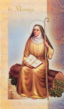 St. Monica Biography Card