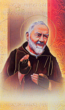 St. Padre Pio Biography Card
