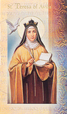St. Teresa of Avila Biography Card