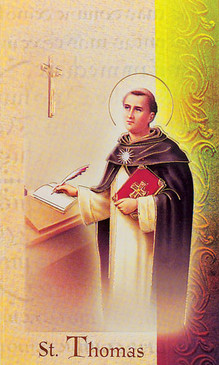 St. Thomas Aquinas Biography Card