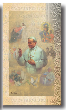 Pope St. John Paul II Biography Card