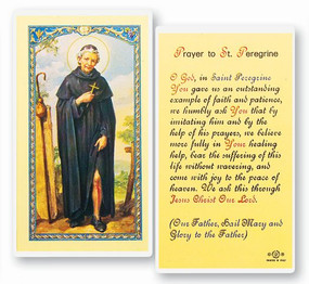 St. Peregrine Prayer Laminated Holy Card