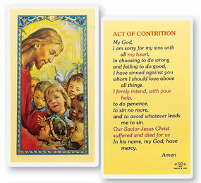 Act of Contrition Laminated Holy Card (E24-718)