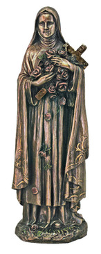 "St. Therese of Lisieux Bronze Statue (8"")"