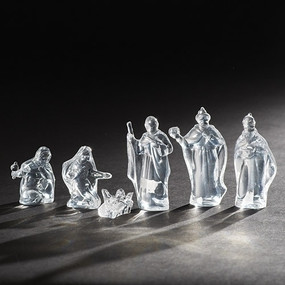 6pc Holy Family Clear Acrylic 4""