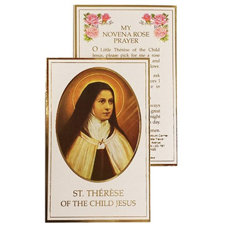 St. Therese Novena Rose Prayer Card (SLF-900)