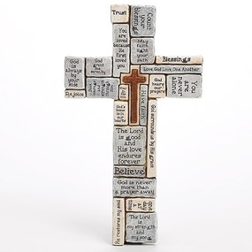 "CROSSWORD WALL CROSS  16""H"