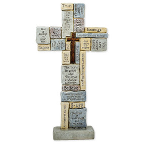 "CROSSWORD TABLE CROSS 12.5""H"