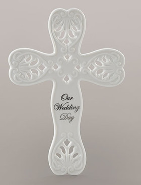 "Wedding Day Wall Cross (8"")"