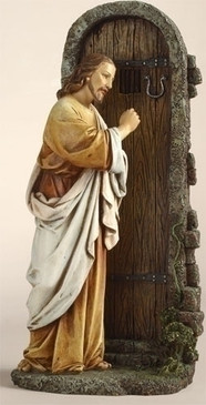 "Jesus Knocking at the Door Statue (12"")"
