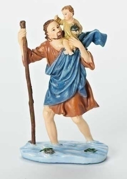 """St. Christopher Dashboard Statue (4"""")"""