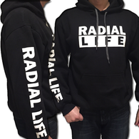 RADIAL LIFE Modified Car Hoodie Black