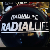 RADIAL LIFE Sticker 30CM Bold White