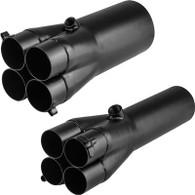 "PROFLOW Mild Steel Exhaust Slip-On Collector 2"" Primary to 3.5"""
