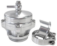 AEROFLOW 50mm Blow Off Valve with Weld-on Flange & V-Band - Silver