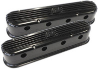 AEROFLOW Billet Retro Valve Covers suit GM LS Series - BLACK