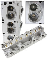 AEROFLOW Aluminium Cylinder Heads, 170cc Runner with 72cc Chamber BARE - Suit Ford FE 390-428