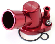 AEROFLOW Billet Swivel Thermostat Housing - Suit Holden - Red