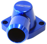 AEROFLOW Billet Swivel Thermostat Housing - Suit GM LS1/2 - Blue
