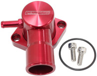 AEROFLOW Billet Swivel Thermostat Housing - Suit Ford EF-FG 6cyl - Red