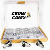 """CROW CAMS Stainless Roller Rockers 7/16"""" + Studs 1.6:1 Chevrolet SB V8"""