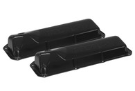 PROFLOW Stamped Steel Black Ford Cleveland Valve Covers - W/Hole