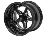 STREET PRO II Ford 5x114.3 - 15x8.5  / 3.50' Back Space Black Wheel
