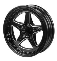 STREET PRO II GM 5x120.65 - 15x7  / 3.50' Back Space Black Wheel