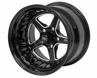 STREET PRO II GM 5x120.65 - 15x8.5  / 5.00' Back Space Black Wheel
