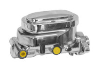 """PROFLOW Master Cylinder Smooth Raised Top Alloy 1"""" Bore suit GM - Chrome"""