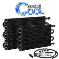 "Performance Tube and Fin Transmission Cooler Kit 7.5"" x 15.5"" AN6"