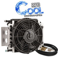 """Dual Core Transmission Cooler Kit 11"""" x 11 3/8"""" AN6 with 10"""" Fan"""