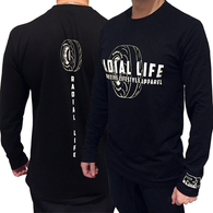 RADIAL LIFE Mens Radial Long Sleeve Shirt Black